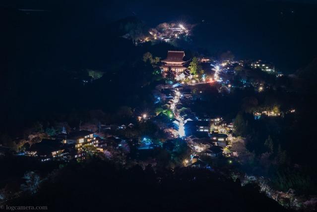 吉野山 夜景
