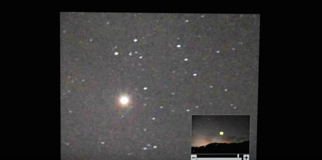 星がきちんと撮れているか拡大してチェックする。