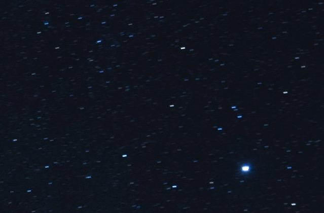 星がのびてる