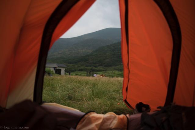 テントで寝る