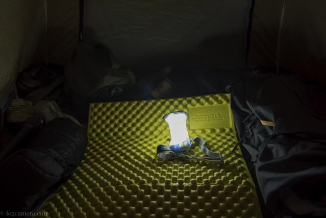 テント泊でのランタンシェード