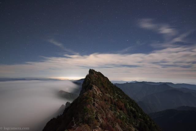石鎚山 夜