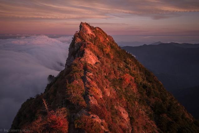 石鎚山 夕焼け