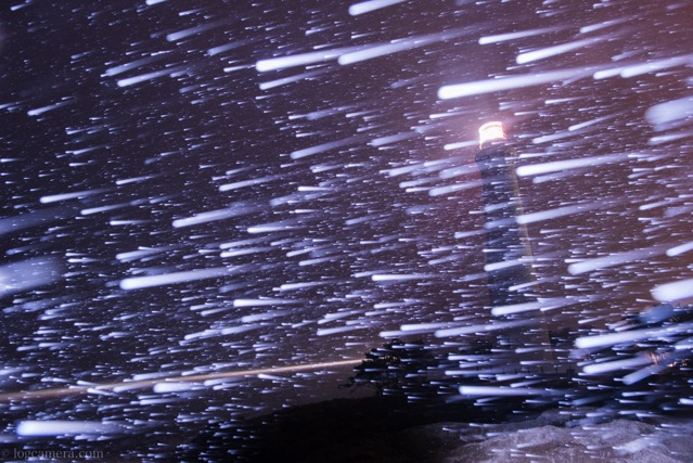 吹雪の日御碕灯台