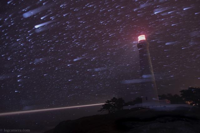 雪の日御碕灯台