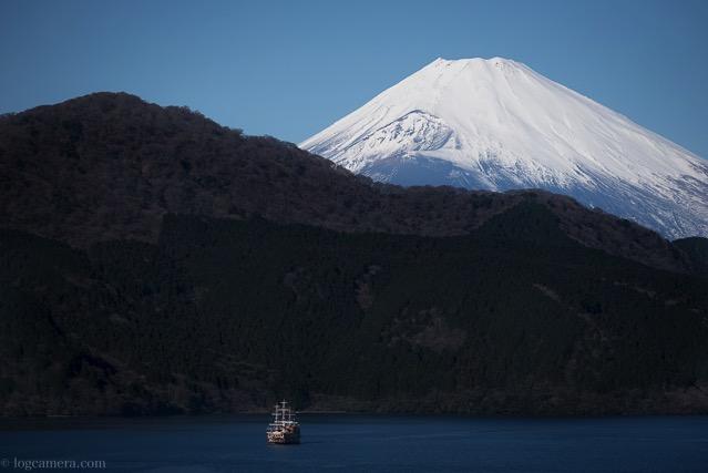 芦ノ湖 海賊船 富士山