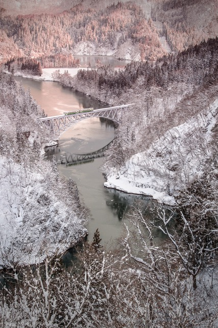 雪 只見線 第一橋梁