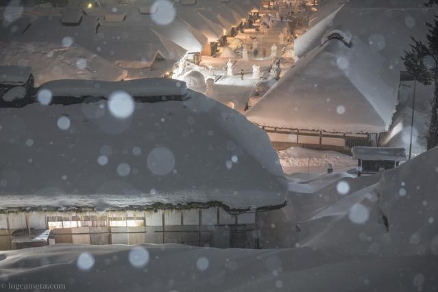大内宿 雪
