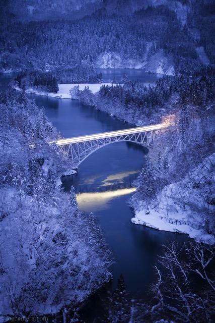 始発の只見線 第一橋梁