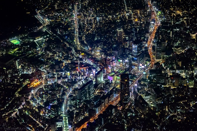 東京 夜景 空撮