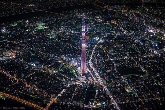 東京 夜景 空撮 スカイツリー
