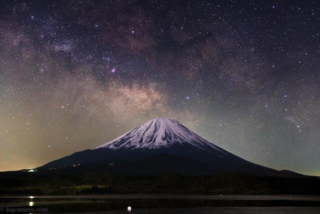 富士山 天の川 50mm