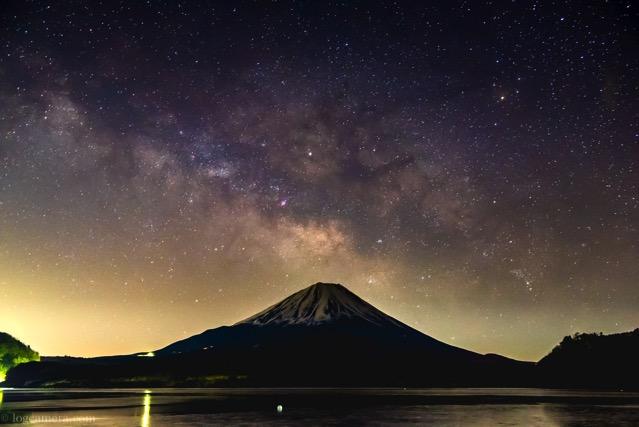 富士山 天の川