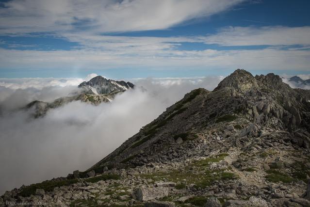 富士ノ折立と剱岳