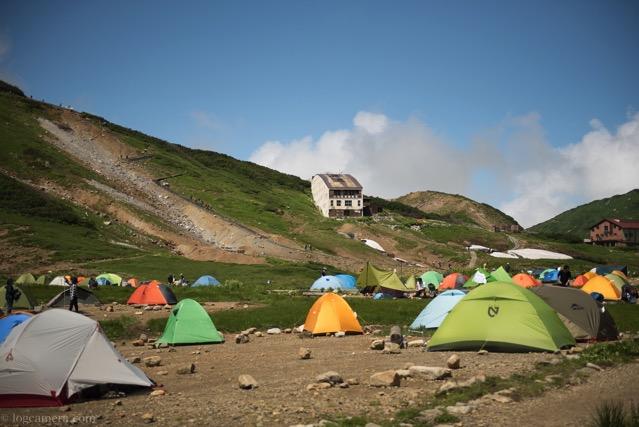 雷鳥沢キャンプ場 テント