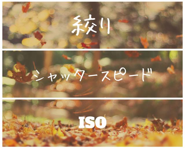絞り・シャッタースピード・ISO