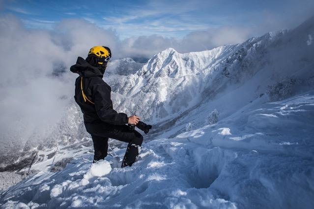 ハードシェル 大山 冬山