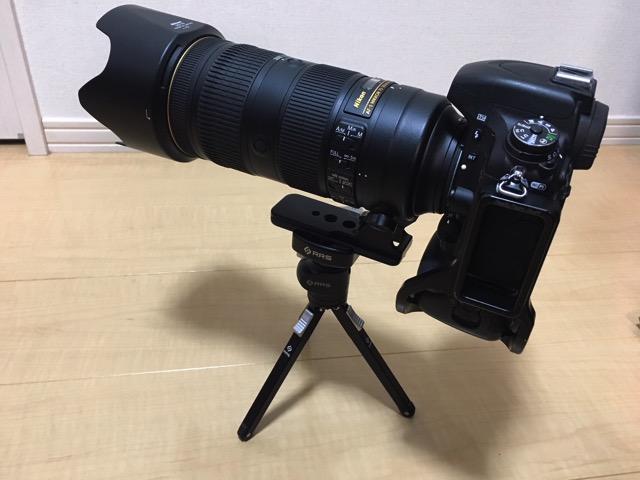 RRS TFA01 70−200mmをのせる