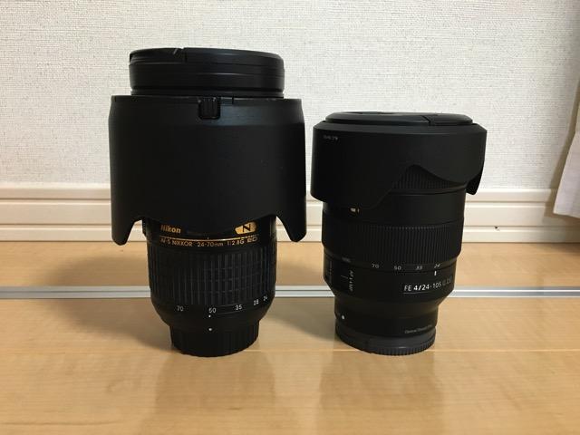 FE 24-105mm F4 G OSSと24−70