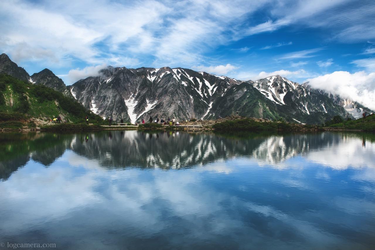 7月の連休に北アルプスの唐松岳でテント泊してきた!八方池のリフレクションも撮ったよ!