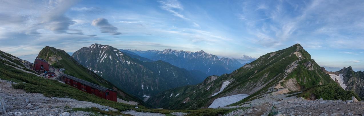 唐松岳 パノラマ