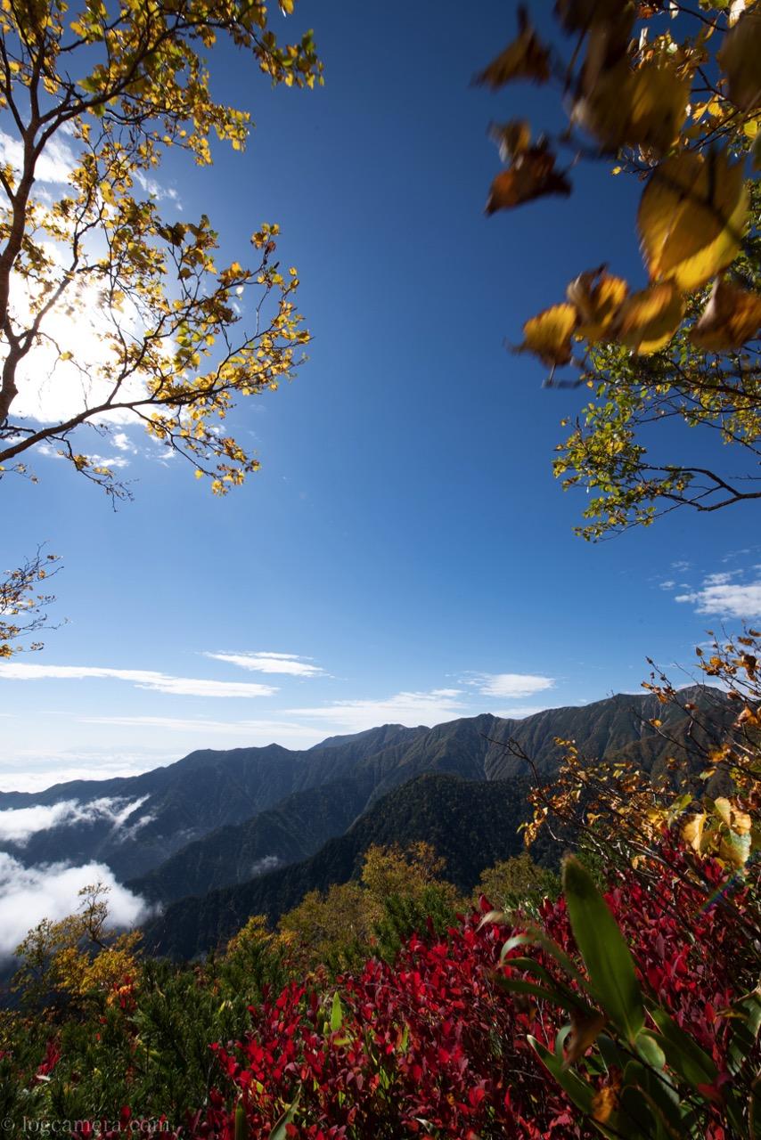 燕岳 紅葉