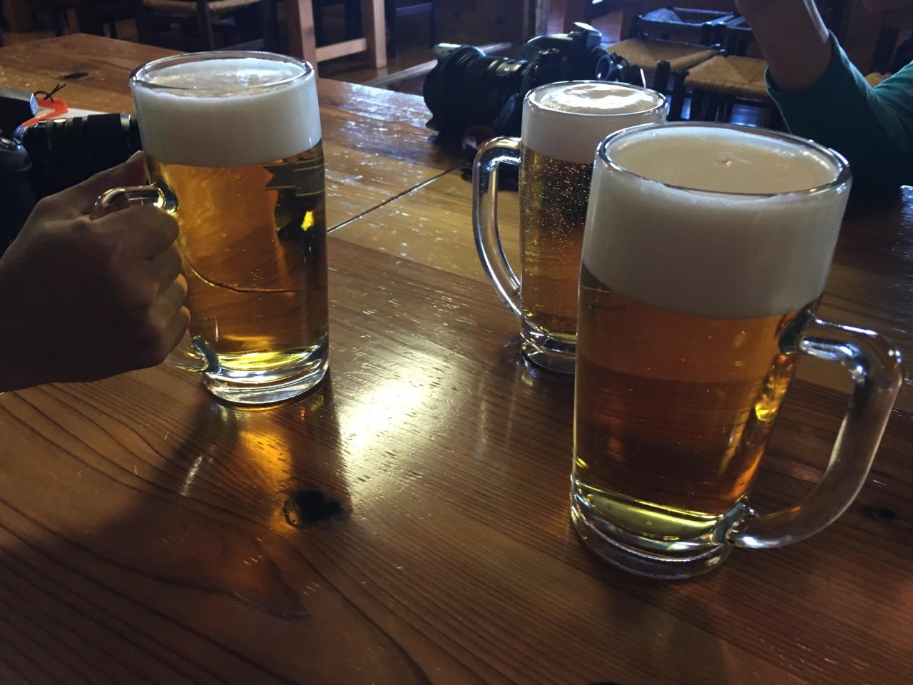 燕山荘 ビール