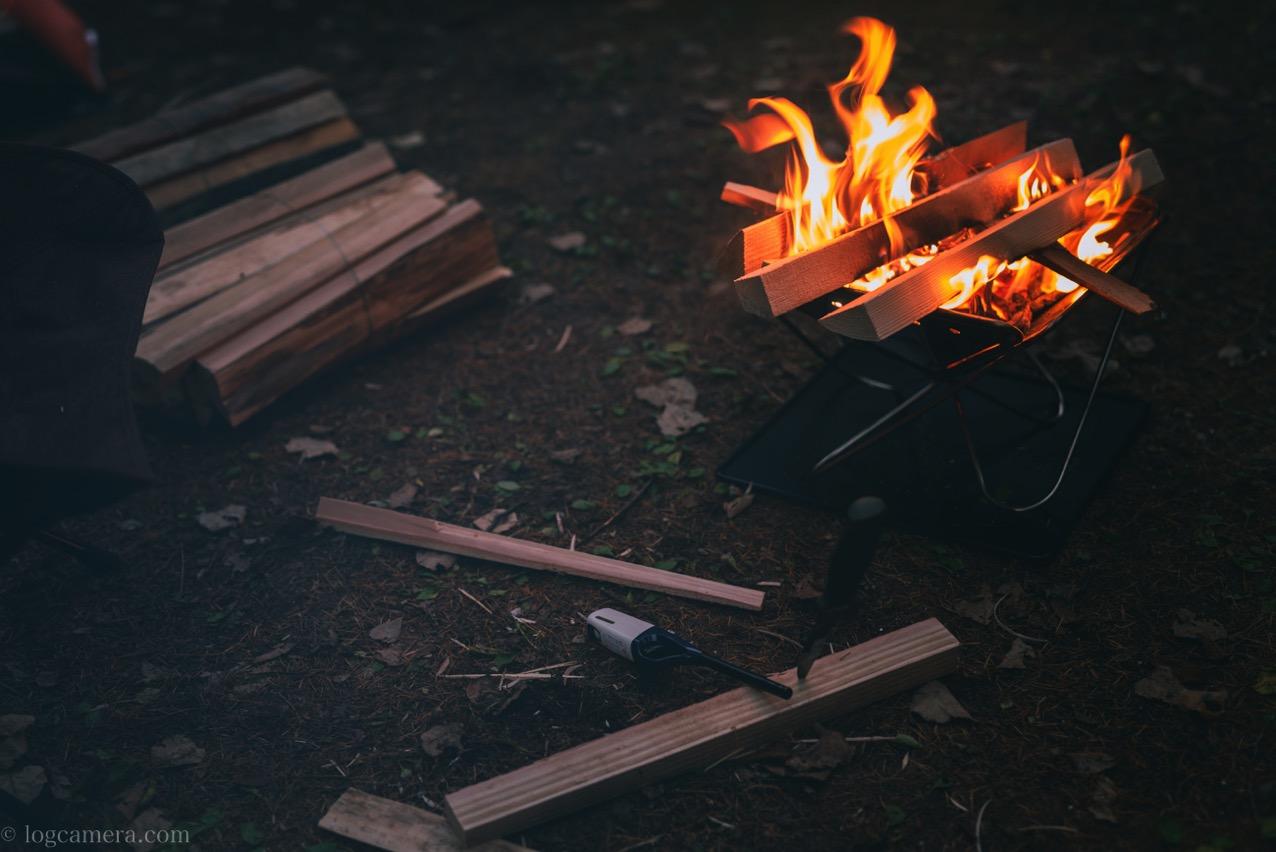 せいなの森 焚き火