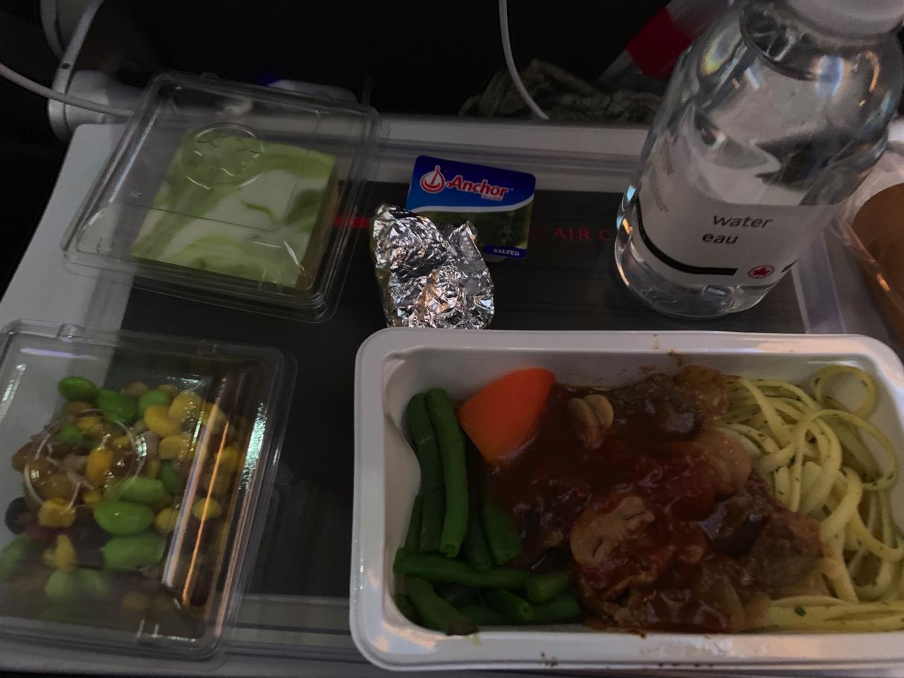エア・カナダ 機内食