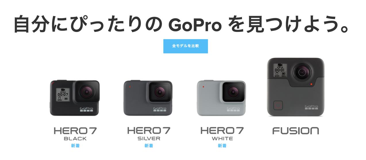 GoPro 種類
