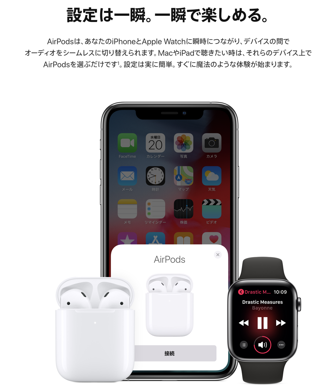 AirPods すぐ繋がる