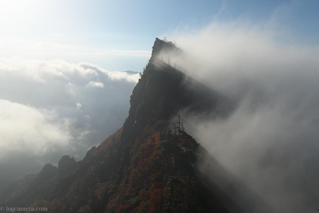 石鎚山 フレア