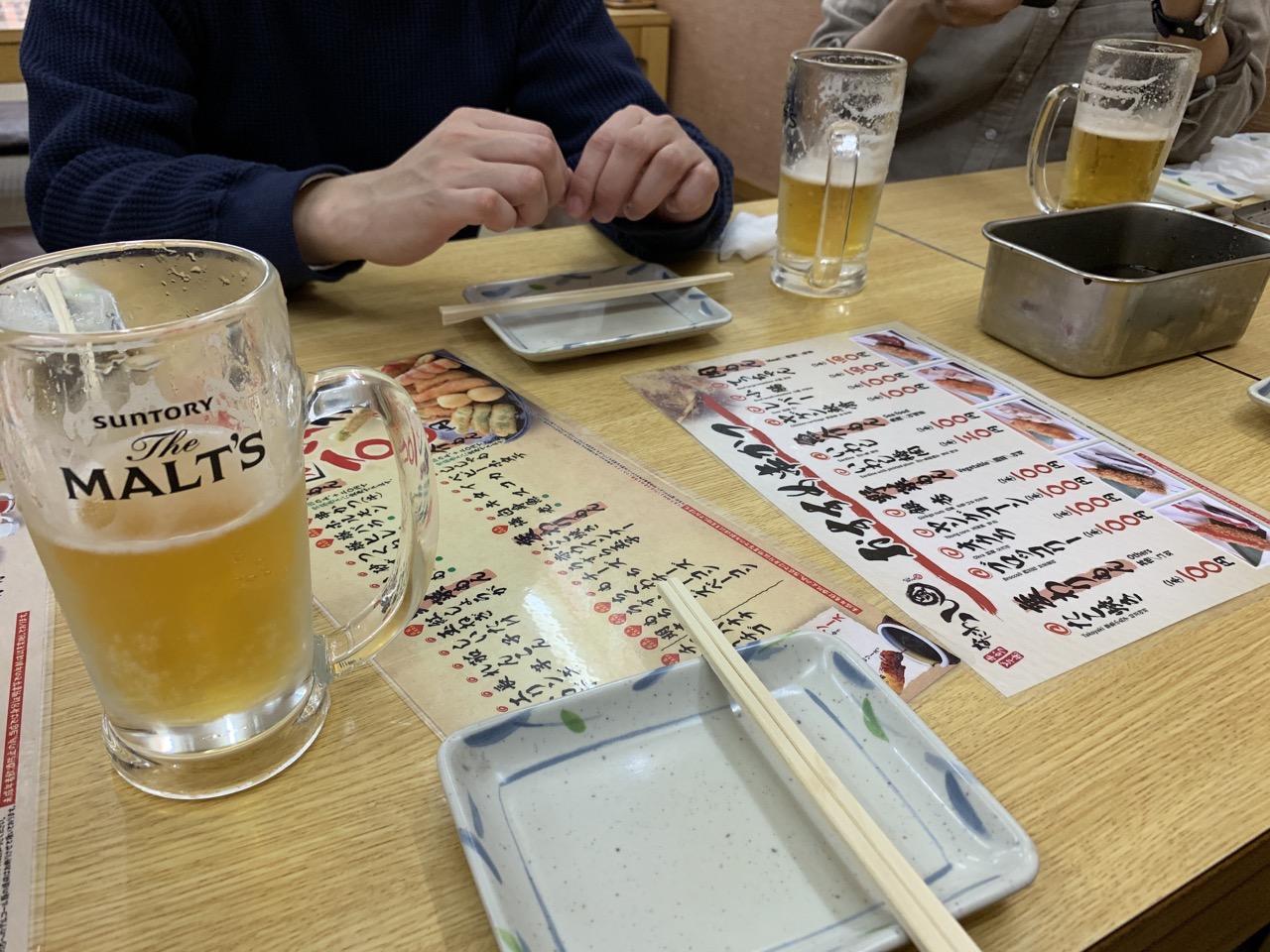 串カツ ビール