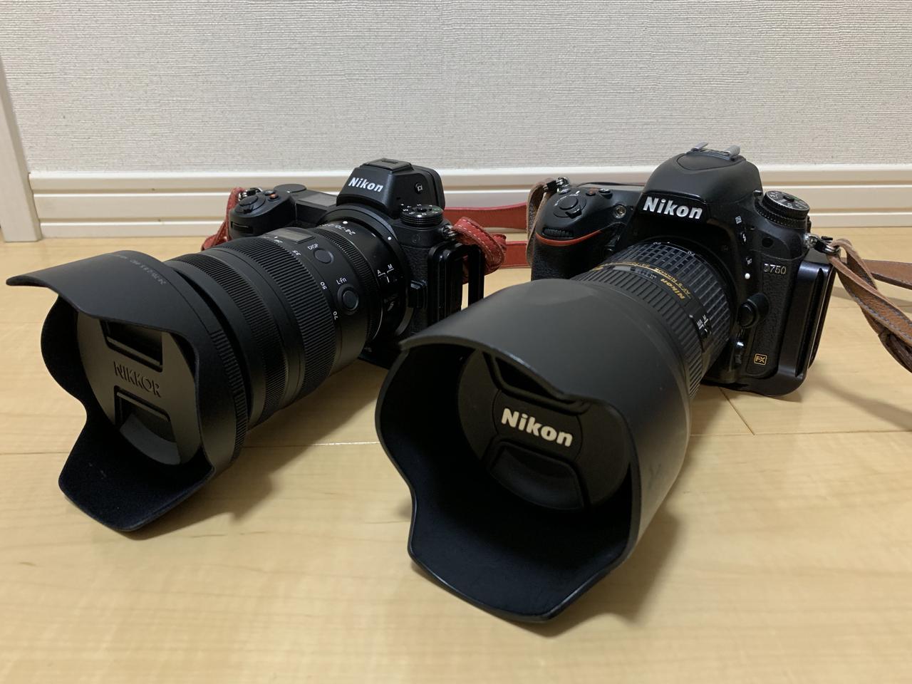 Z7とD750 24−70mm
