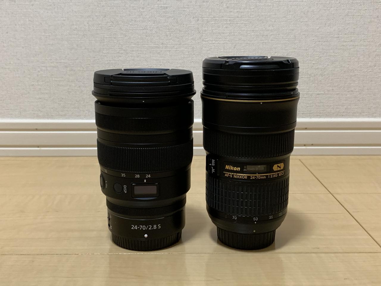 24−70mm レンズ比較