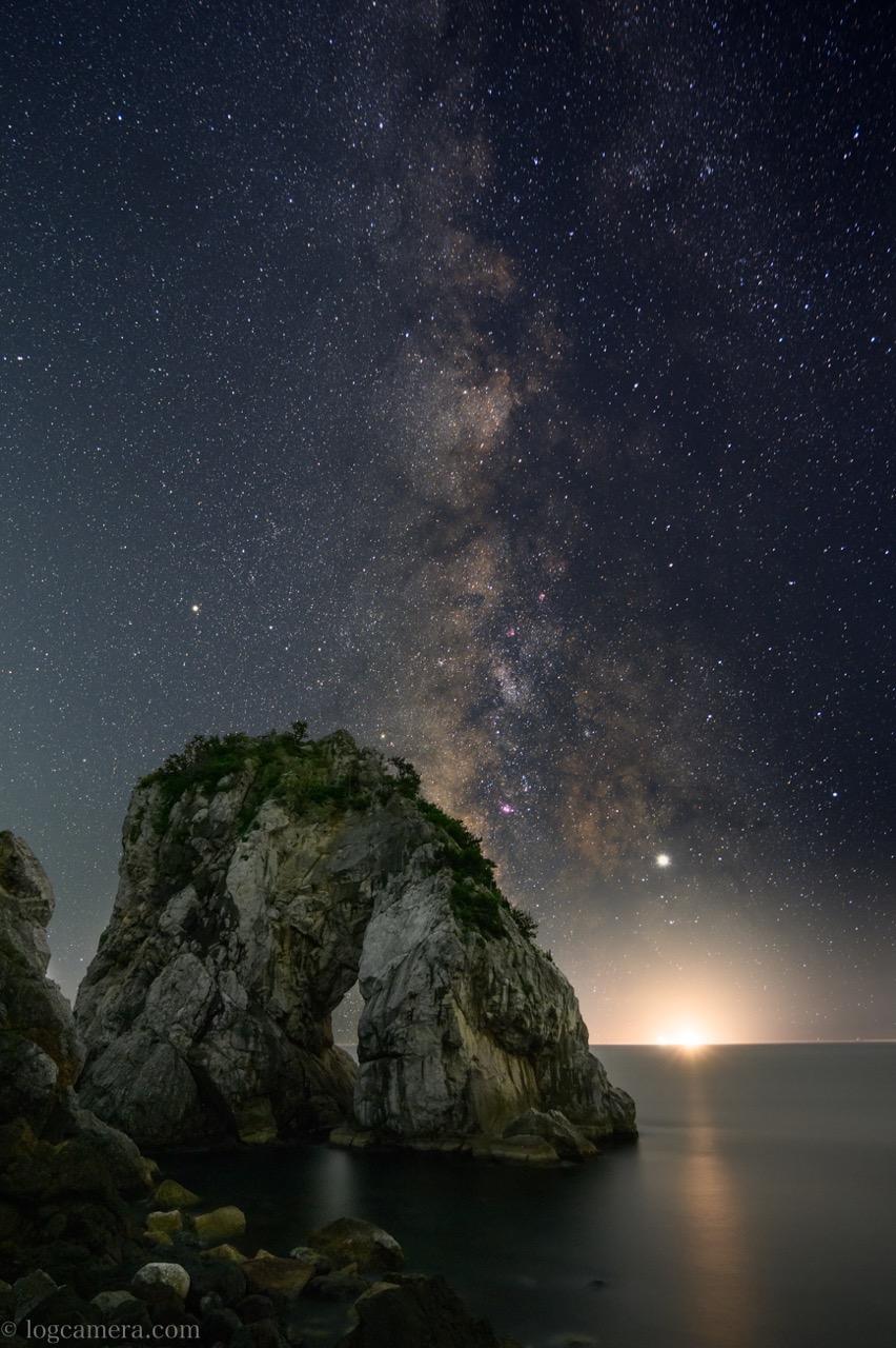 立巌岩と天の川