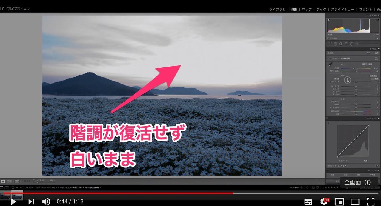 白飛びした写真は現像しても白いまま YouTube