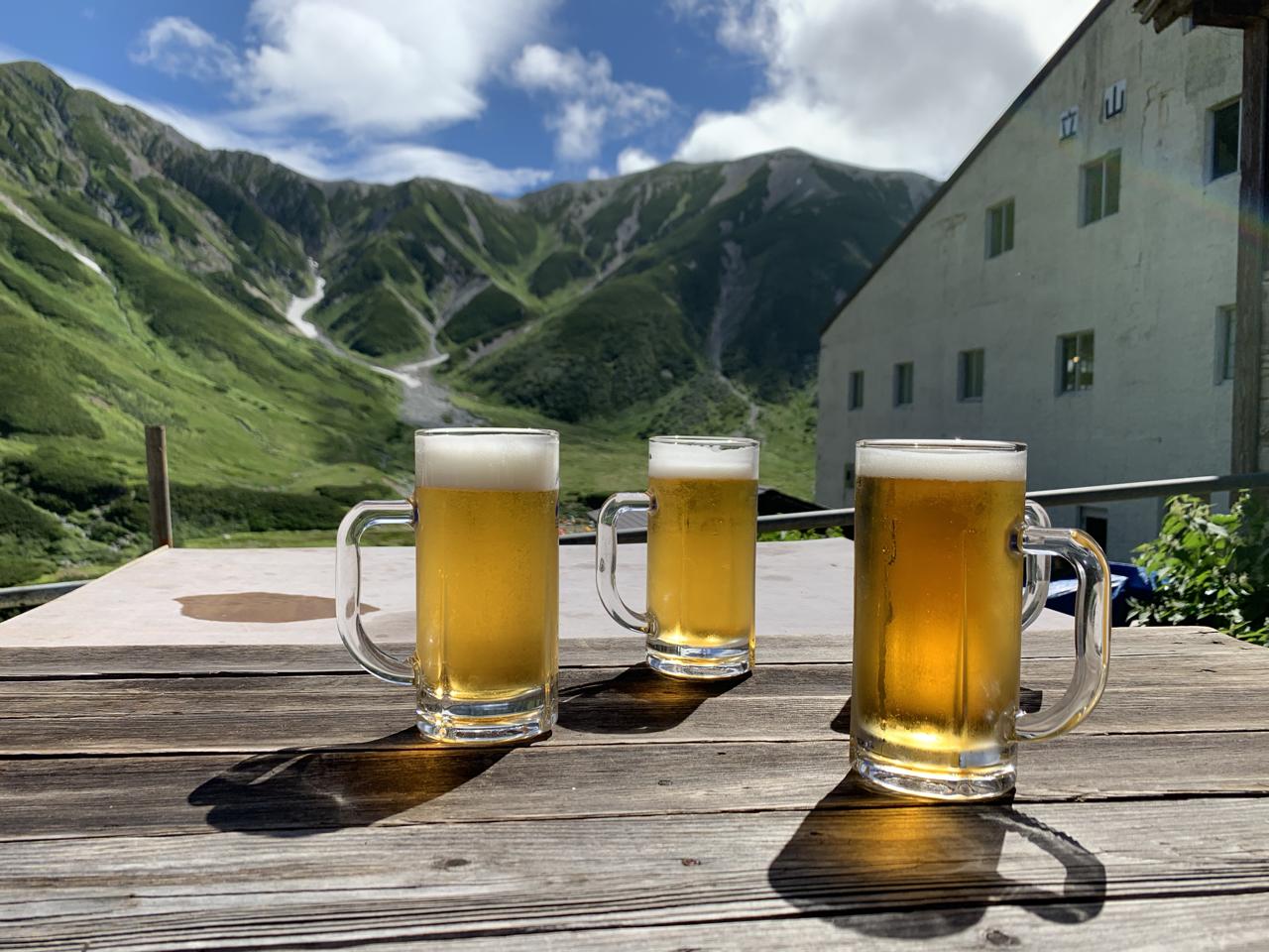 立山とビール