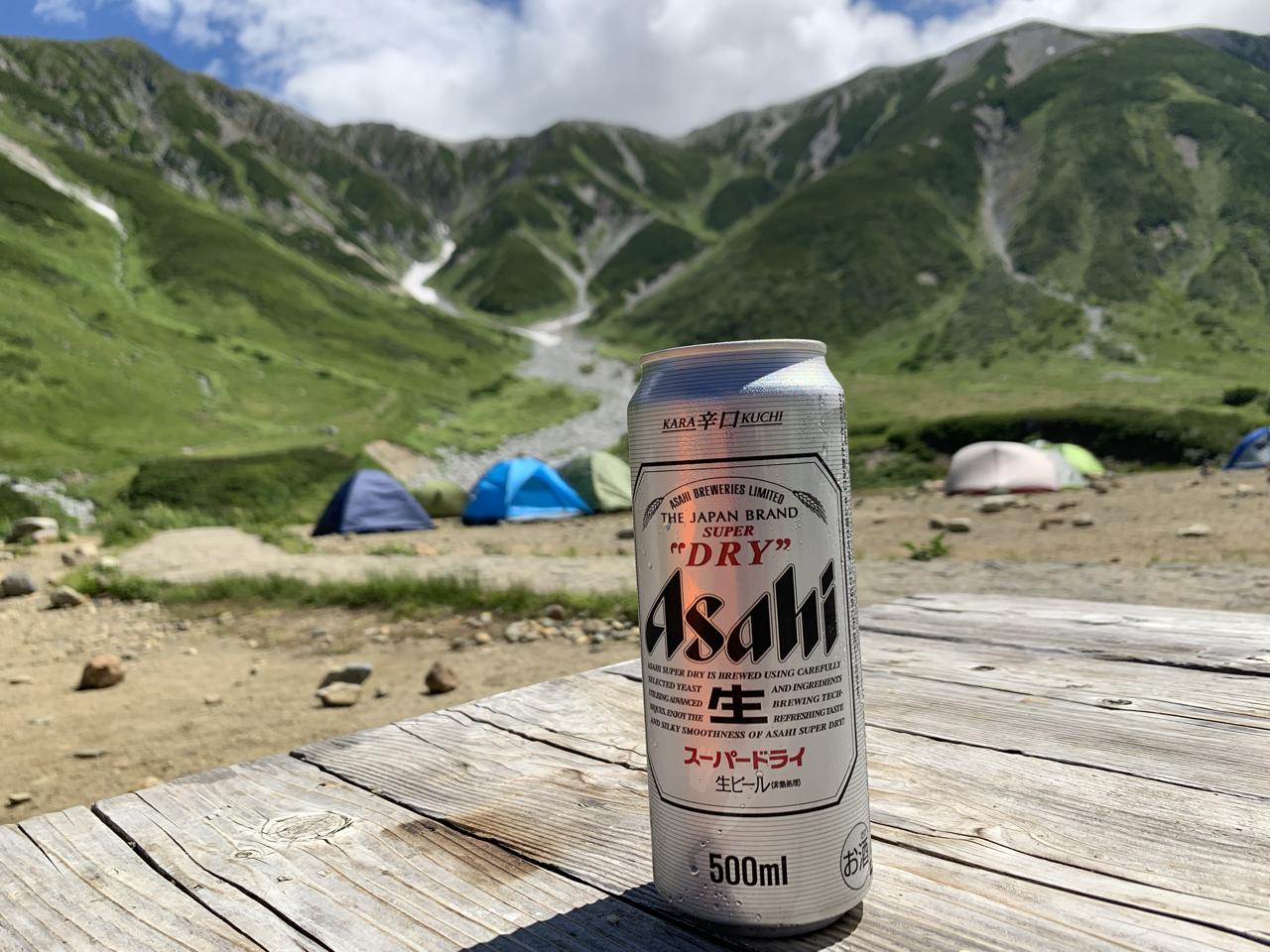 立山とスーパードライ