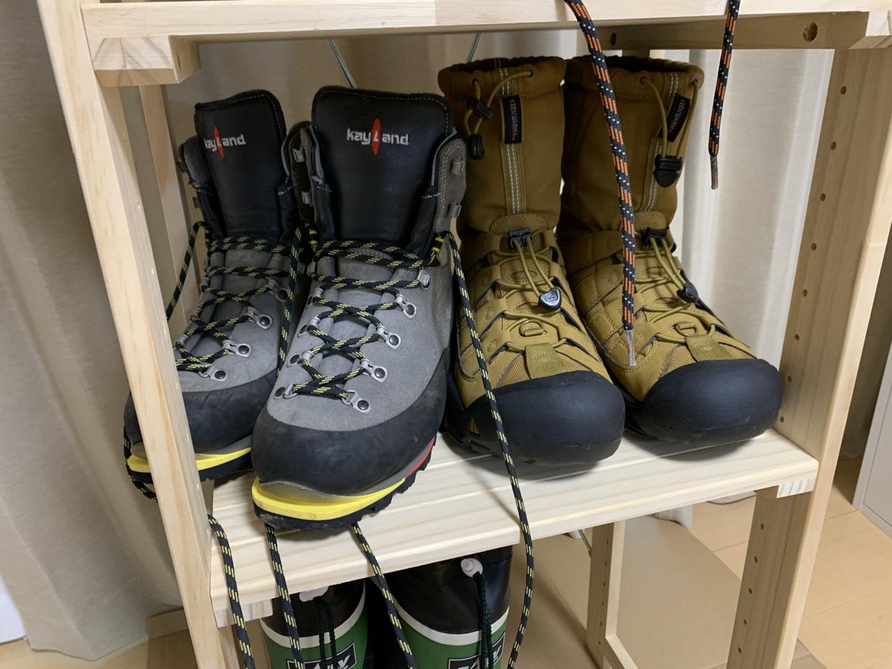 登山靴や長靴の収納にニトリのパインラック マンクスを買ってきた!