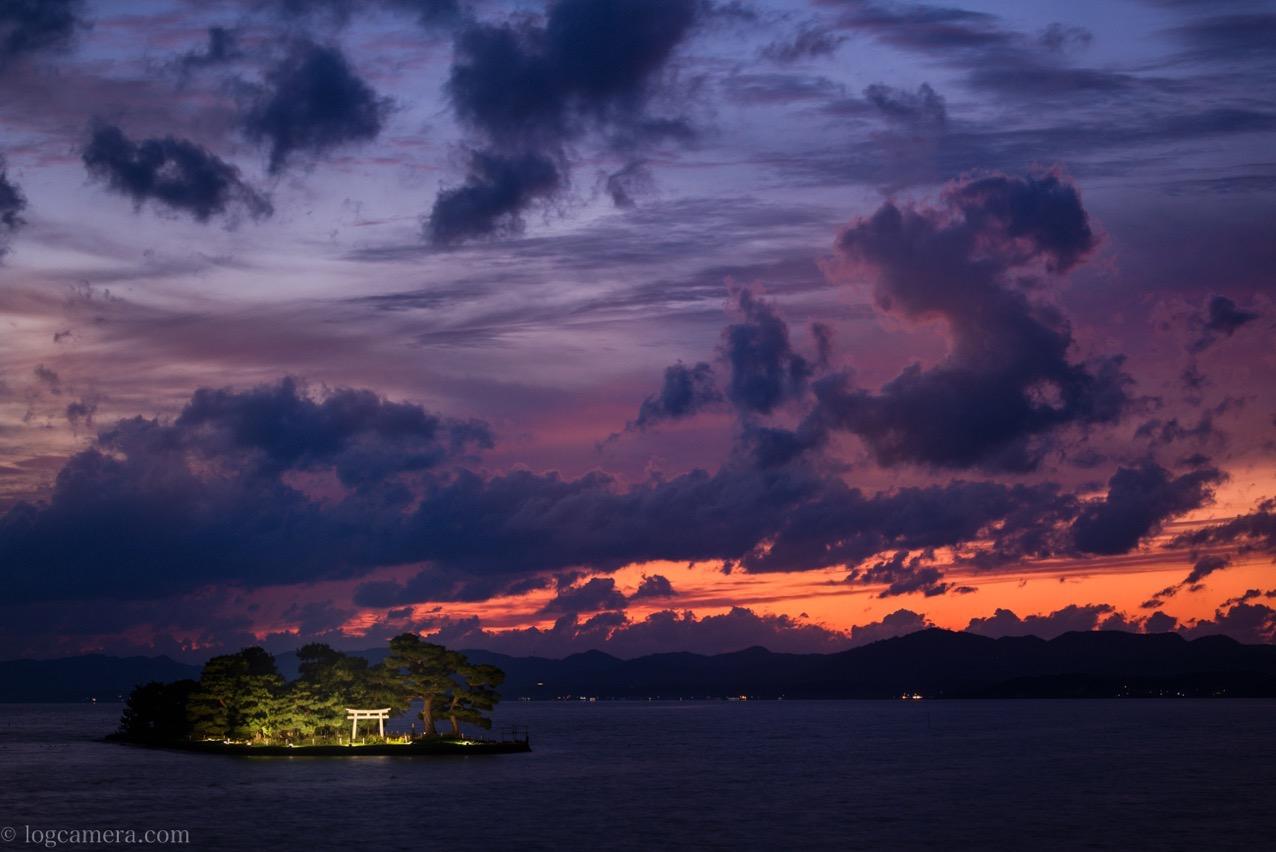 宍道湖 嫁ヶ島 ライトアップ