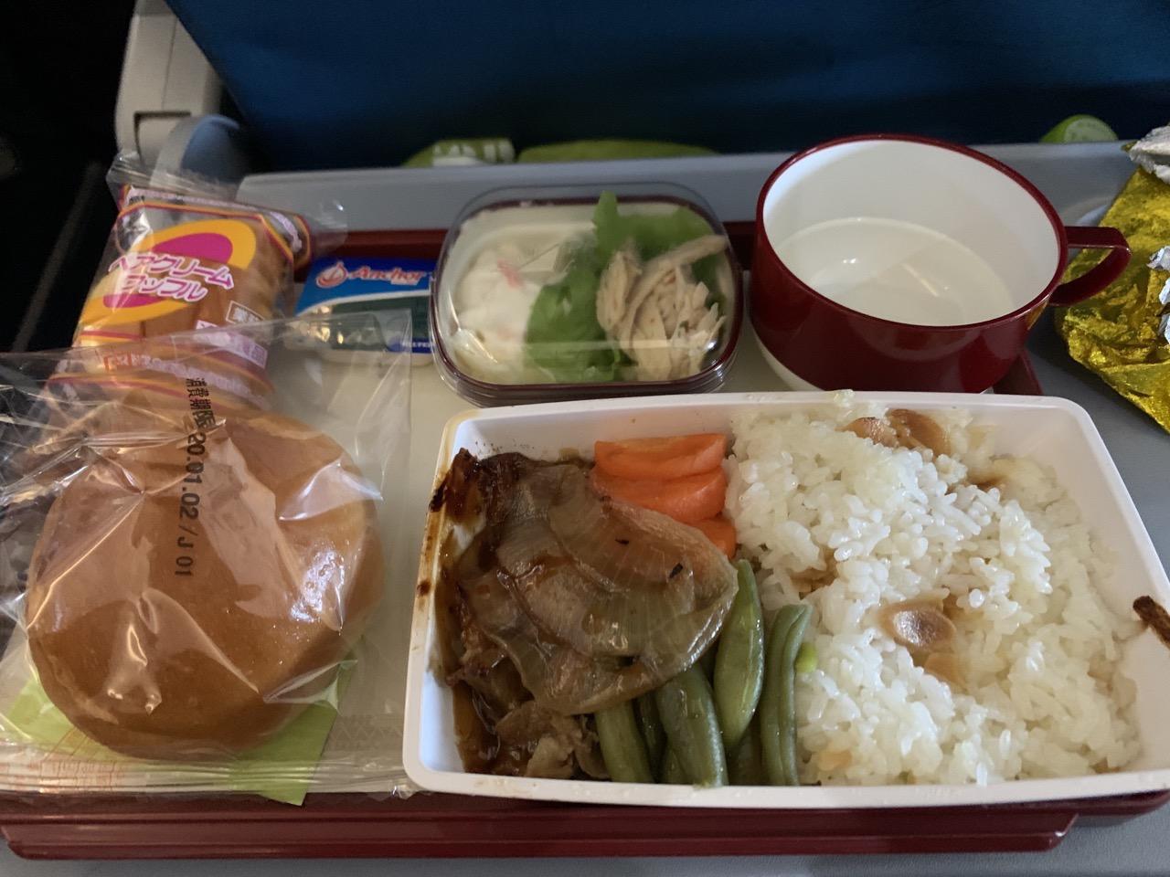 フィリピン航空 機内食