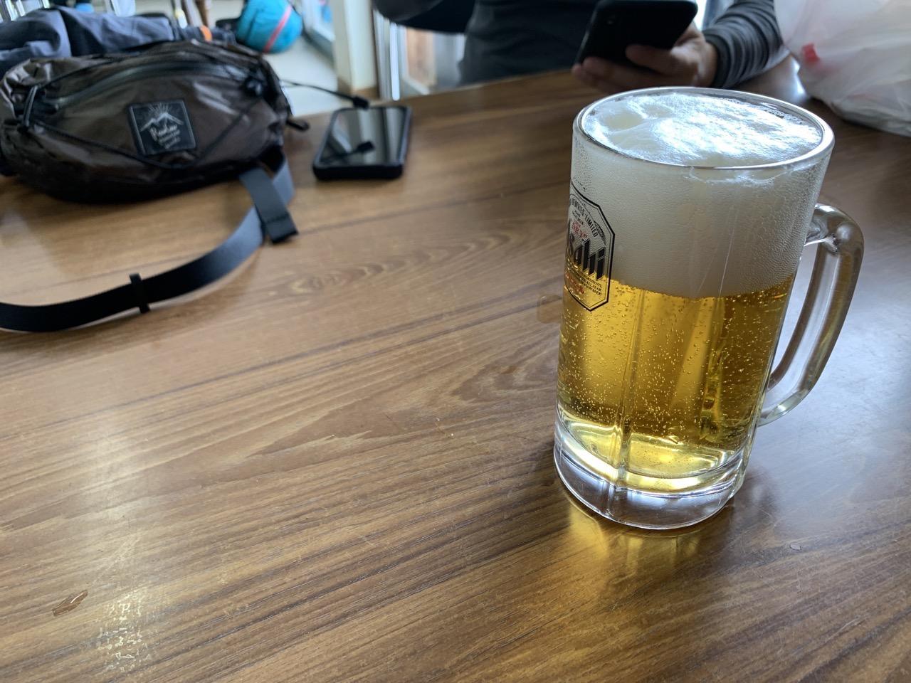 八方池山荘 ビール