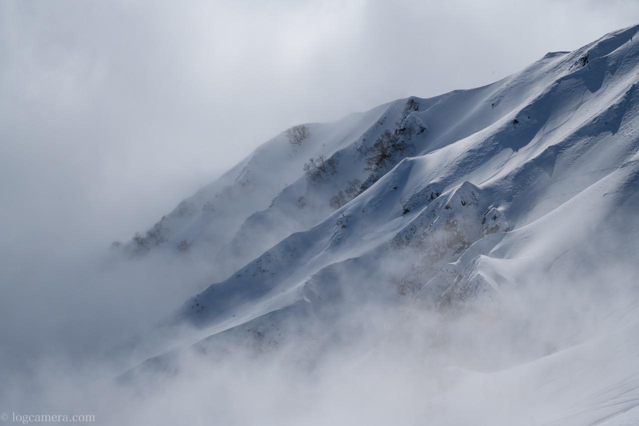 北アルプス 雪