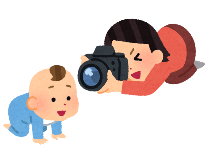 Camera baby mother