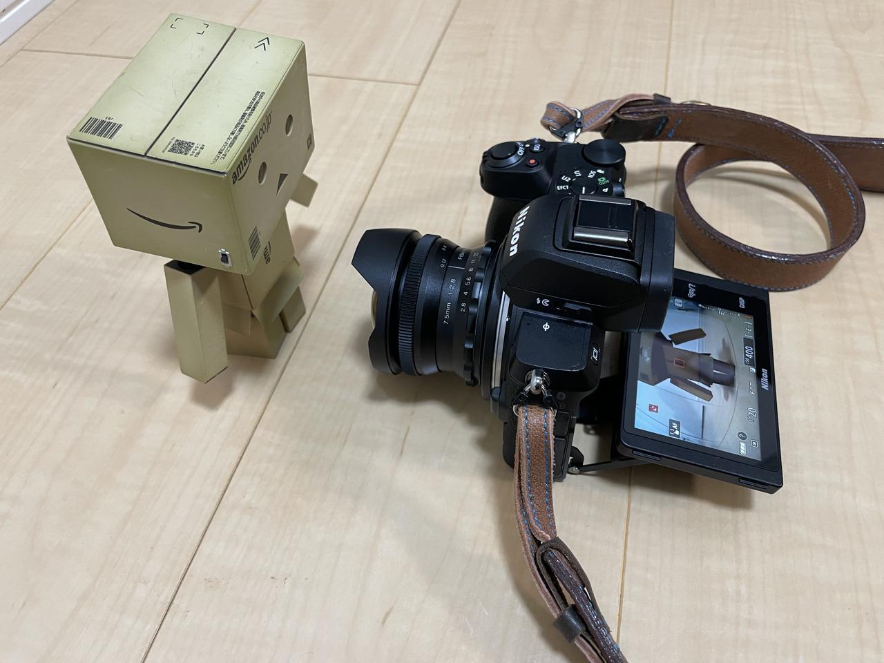 PERGEAR 7.5mm f2.8最短撮影距離