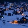 冬の白川郷の夜景はとんでもなく幻想的だった